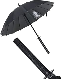 Samurai Sword Handle Umbrella Ninja Katana Japanese Long Umbrella with 16 Ribs