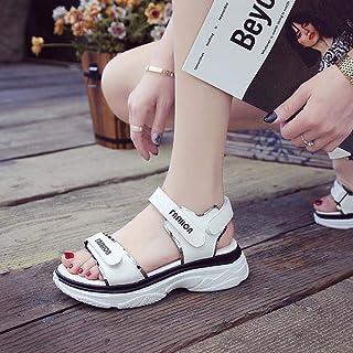 Summer Thong Low Wedge Ergonomic Beach Shoe, hebilla de línea inferior con sandalias deportivas, sandalias transpirables con lentejuelas de fondo plano, blancas, 38, zapatos de fiesta, el mejor reg
