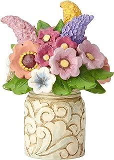 Enesco Jim Shore Heartwood Creek Mini Flower Bouquet Figurine, 3.5