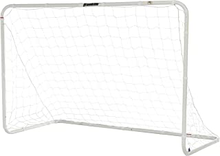 Franklin Sports Competition Soccer Goal - Steel Backyard Soccer Goal with All Weather Net - Includes 6 Ground Stakes - 12'x6' and 6'x4' Soccer Goal