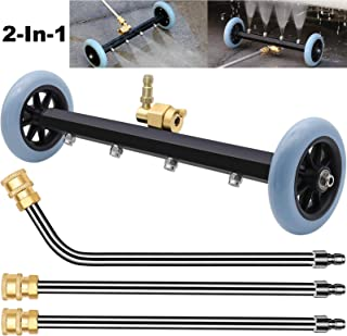 ZALALOVA Pressure Washer Undercarriage Cleaner, 16 Inch Power Washer Surface Cleaner Attachments, Under Car Wash Water Bro...