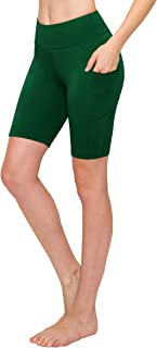 Women Bike Shorts with Pockets - Premium Soft Buttery Yoga Legging Pants