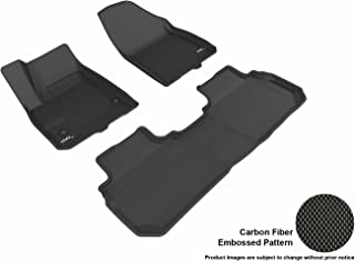 3D MAXpider Complete Set Custom Fit All-Weather Floor Mat for Select Cadillac XT5 Models - Kagu (Black)