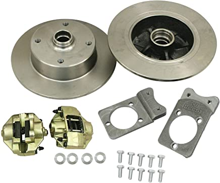 EMPI 22-2983-0 VW Ball Joint Style Bolt-On Disc Brake Kit, 4/130