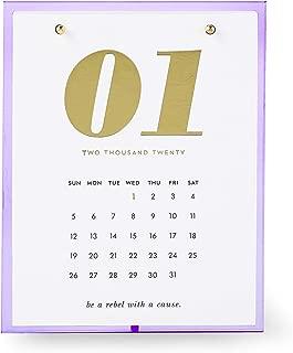 Kate Spade New York 12 Month Desktop Calendar, Dated January 2020 - December 2020, Lilac