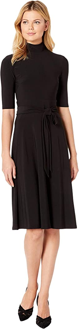 Matte Jersey Sloane Elbow Sleeve Day Dress