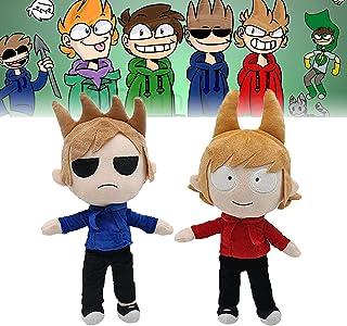 2pc Eddsworld Speelgoed Set, Eddsworld Tord En Tom Pluche, 37cm / 14.5in Cartoon Karakter Pluche Gevulde Pop Cadeau Voor F...