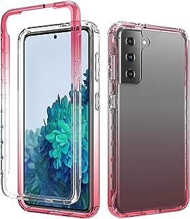 BAIYUNLONG Funda Protectora, para Samsung Galaxy S21 5G a Prueba de Golpes Alta Transparencia Cambio Gradual de Dos Colore...