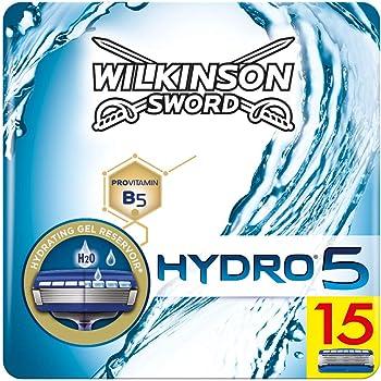 Wilkinson Sword Hydro 5 - Confezione da 15 Lamette per Uomo di Ricambio - Confezione adatta alla buca da lettere