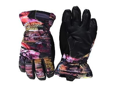 Obermeyer Kids Lava Gloves (Little Kids/Big Kids) (Scattered Floral) Extreme Cold Weather Gloves