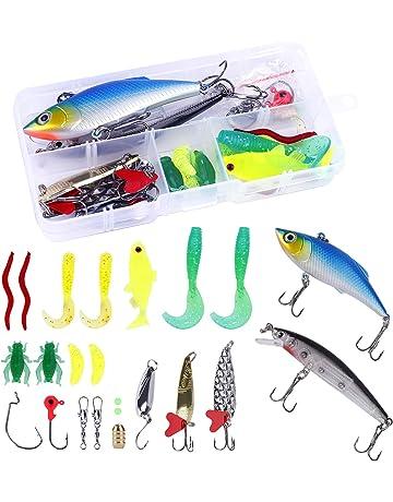 DaMohony con scatola per il trasporto per accessori da pesca Esca artificiale da pesca 5 pezzi
