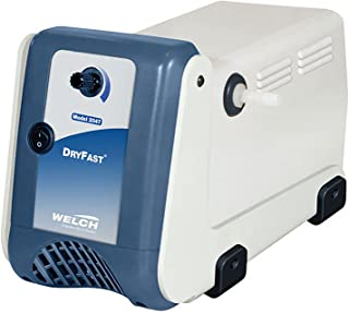 Welch Vacuum 2034B-01 DryFast Vacuum Pump, Oil-Free Diaphragm, PTFE Chemical Resistant, 25 LPM, 9 Torr, 115V
