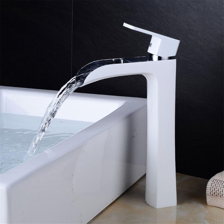 Bijjaladeva Antique Bathroom Sink Vessel Faucet Basin Mixer Tap Retro White single hole basin faucet and cold water bathroom basin faucets waterfall plus high water faucet bathroom