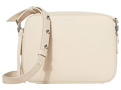 AllSaints Captain Leather SQ Crossbody (Dove) Handbags