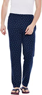 VIMAL JONNEY Navy Printed Cotton Trackpant for Men