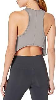 Bestisun Women's Racerback Crop Tank Tops Workout Clothes Muscle Open Back Shirts Gym Yoga Wear with High Low Hem