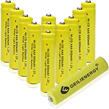 GEILIENERGY Solar Light Batteries AAA NiCd AAA 1.2V 600mAh Triple A Rechargeable Batteries for Solar Lamp Garden Lights (Pack of 12)