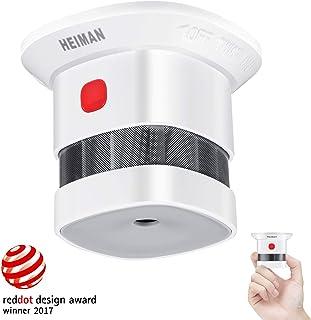 Mini Detector de Alarma de Humo HEIMAN, Batería de por Vida