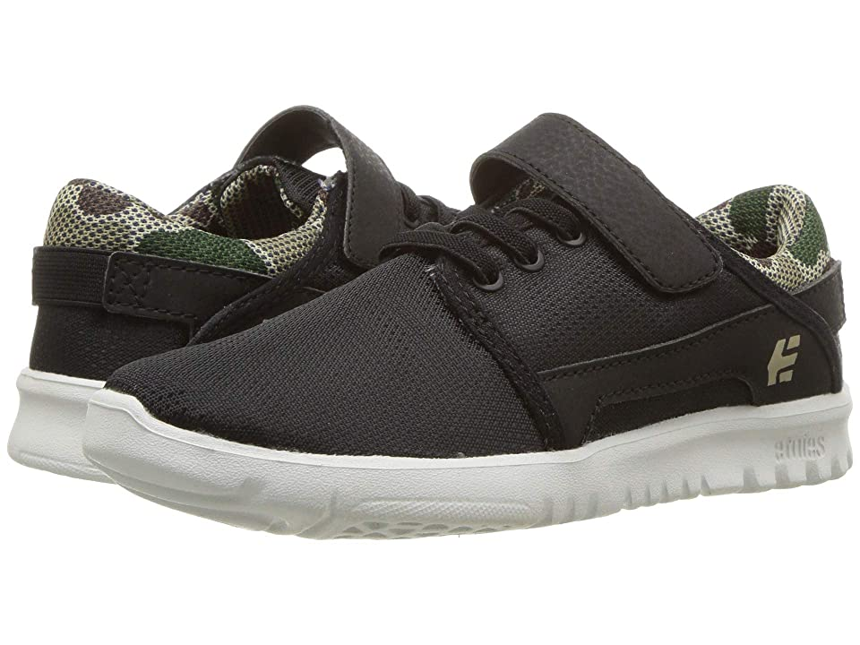 etnies Kids Scout V (Toddler/Little Kid/Big Kid) (Black/Camo) Boy