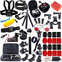 $23 Get MOUNTDOG Action Camera Accessories Kit for GoPro Hero 7 6 5 4 3+ 3 2 1 Hero Session 5 Black Accessory Bundle Set for Yi AKASO Apeman SJ4000 DBPOWER WiMiUS Rollei QUMOX Campark Action Camera Accessory