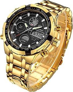 Relojes para Hombre de Lujo de la Manera Reloj cronógrafo Pesado del Deporte del Acero Inoxidable Alarma de la Fecha Imper...