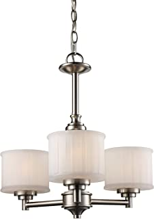 Trans Globe Lighting 70726 BN Cahill Indoor Brushed Nickel Transitional Chandelier, 19.5