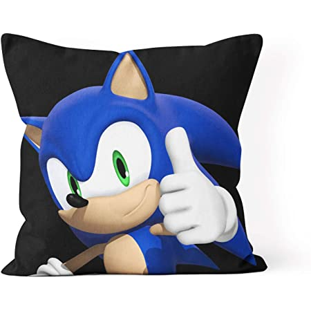 Sonic The Hedgehog Pillow Case Standard Queen Size Sofa Bed Throw Cushion Cover