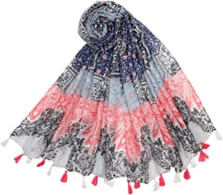PRETYZOOM Flower Scarf Printed Scarf Fashion Sun Wrap Shawl Snakeskin Scarf Shawl Printed Shawl Beach Shawl for Woman Girls