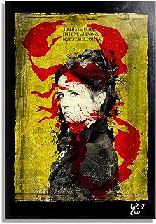 Vanessa Ives de Penny Dreadful Serie de Televisión - Pintura Enmarcado Original, Imagen Pop-Art, Impresión Póster, Impresion en Lienzo, Cuadro, Cómics, Cartel de la Película