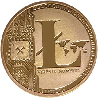 Chapado en oro de sseell Litecoin decorativa moneda coleccionable regalo LTC monedas colección de arte física