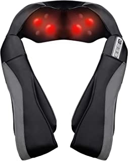 Neck Shoulder Massager Electric Back Massage with Heat Deep Kneading Tissue Massage for Relax Car Office Home