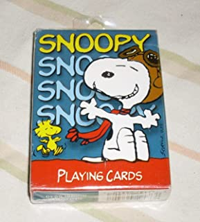 Peanuts Snoopy Flying Ace Pilot Deck of Playing Cards