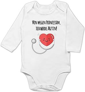 Shirtracer Von wegen Prinzessin, Ärztin! - Baby Body Langarm