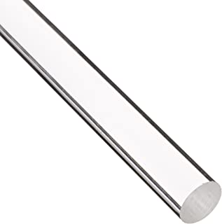 Acrylic Round Rod, Transparent Clear, Meets UL 94HB, 2