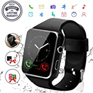 Smart Watch,Bluetooth Smartwatch Touch Screen Wrist Watch with Camera/SIM Card Slot,Waterproof...