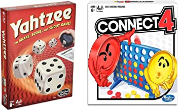 Classic Yahtzee Connect 4 Bundle| Indoor or Outdoor Friends and Family Game| Fun Party Strategy Board Games for Kids| Ages 6 and Up
