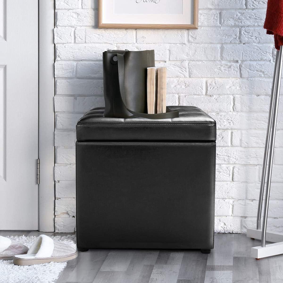 "ReunionG 16"" Cube Storage Footrest Boxes Ottoman Mail Sale SALE% OFF order S"