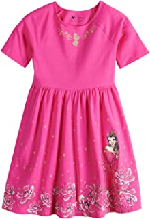 Jumping Beans Princess Belle Beauty and The Beast Girls 4-12 Printed Dress