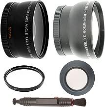 Wide Angle Lens + 2x Telephoto Lens + 3Pcs Filter Kit + Lenspen + Rubber Lens Hood For Nikon D3000, D3100, D5000, D5100, D7000 DSLR Cameras Attach To Nikon 18-55mm f/3.5-5.6G VR AF-S DX Nikkor Lens And Nikon 55-200mm ED AF-S DX Lens