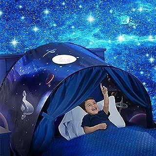 Kids Dream Bed Tent - Fantasy Space Adventure & Dinosaur Island & Unicorn & Winter Wonderland Play Tents Boys Girls Pop up Tents Children Game Tent Magical Playhouse Birthday Gifts (Space Adventure)