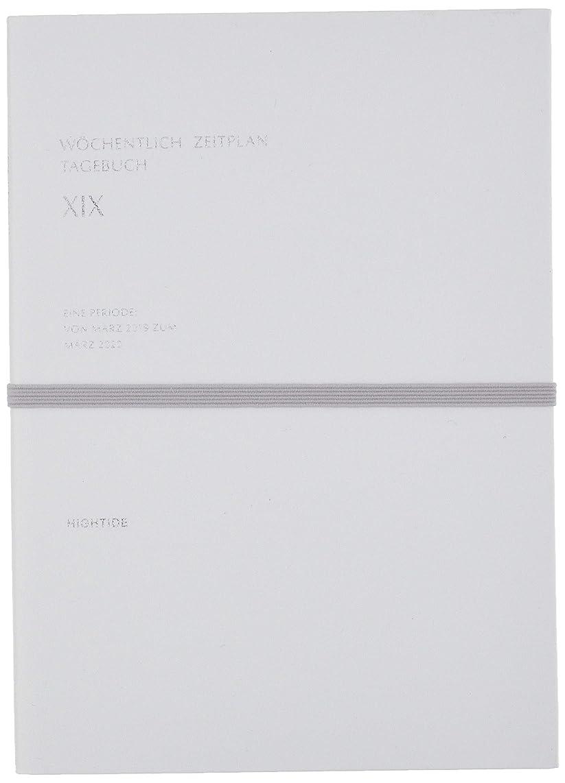 柱結婚したクックハイタイド 手帳 2019年 3月始まり B6 ウィークリー ブロック ヴェルター ホワイト SY3