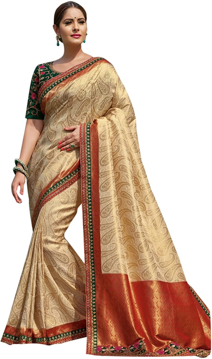 Bollywood Bridal Saree Sari for Women Collection Blouse Wedding Party Wear Ceremony 822 17
