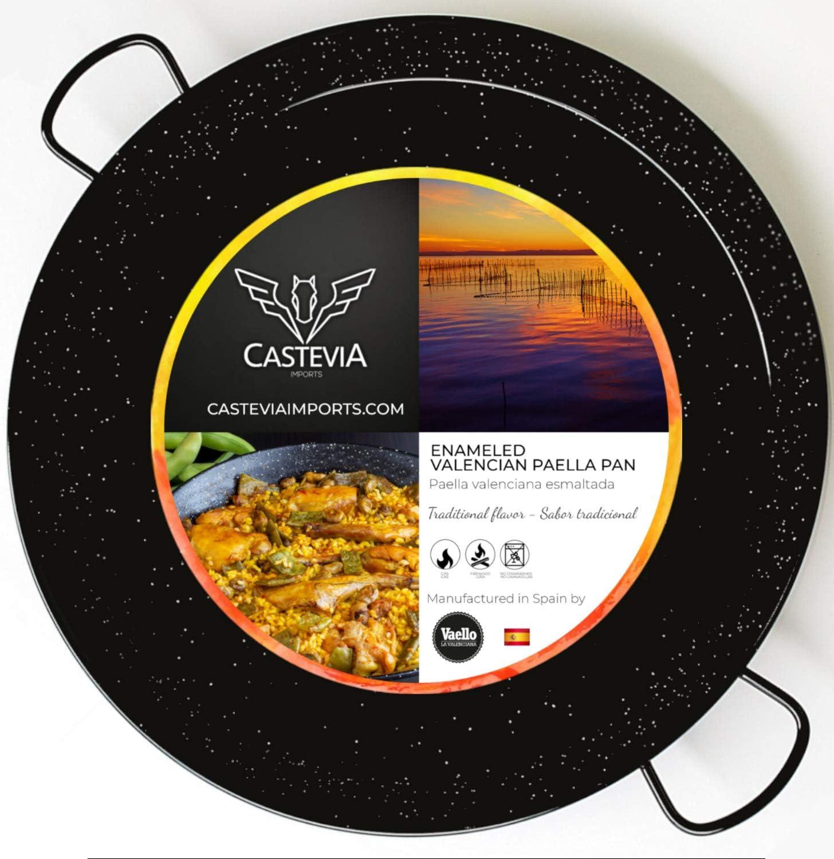 Castevia 16.5-Inch Enameled Steel latest Paella 42cm Pan servings Los Angeles Mall 10