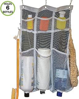 Evelots Mesh Shower Caddy-6 Pockets-Hooks for Brushes-Holes for Bottles-Dry Fast