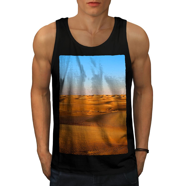 Wellcoda 砂漠 砂 写真 自然 男性用 S-2XL タンクトップ