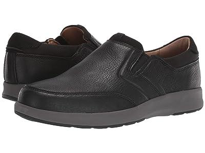 Clarks Un Trail Step (Black Leather) Men