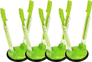 Jokari Original Adjustable Baggy Rack Stand 4 Pack. Prop Plastic Ziploc Freezer Storage Bags Open Hands-Free To Pour Leftovers, Snacks and Meal Prep Ingredients With No Food Spills or Kitchen Mess