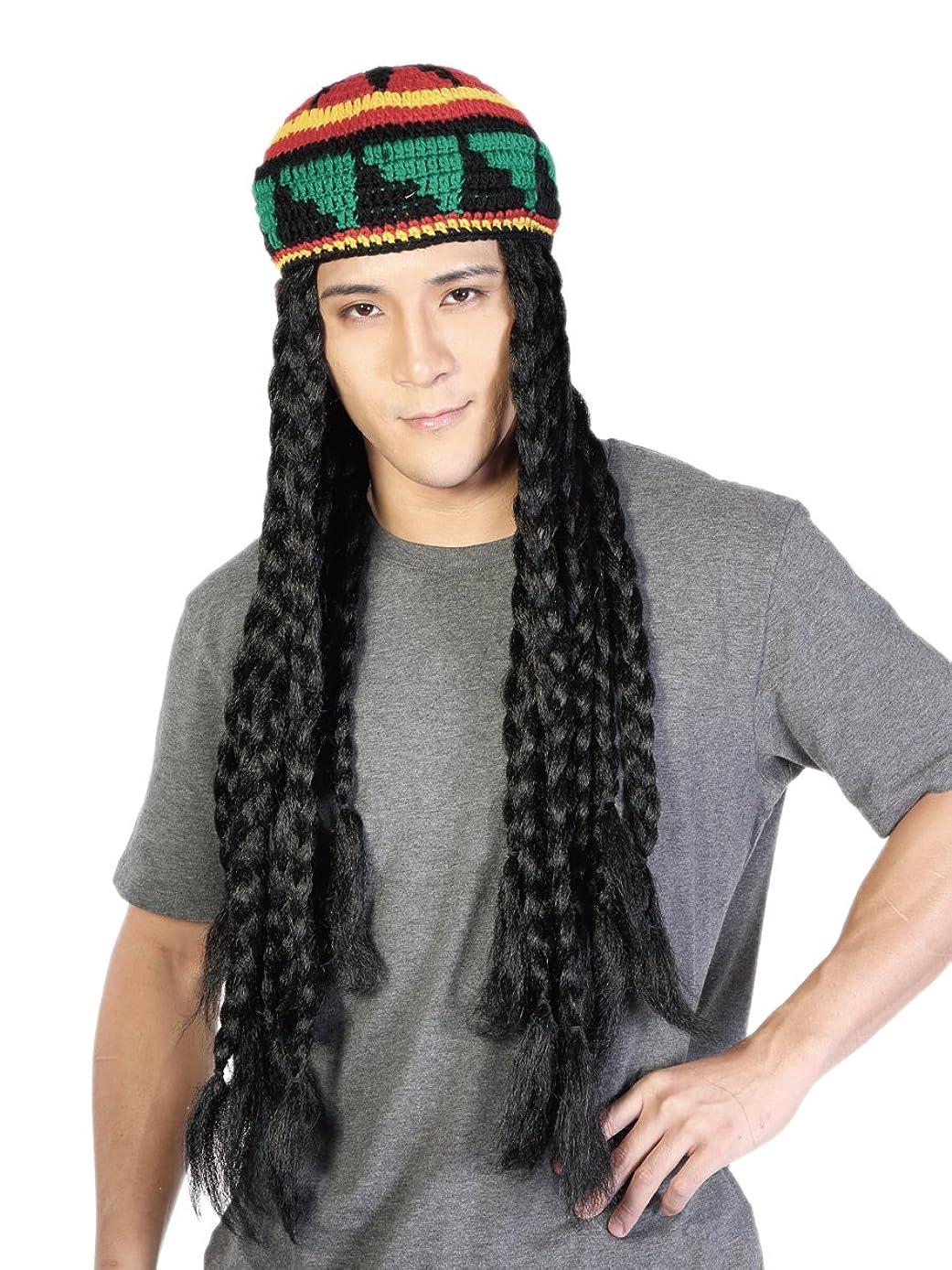 Rasta Dreadlocks Wig with Tam - 28