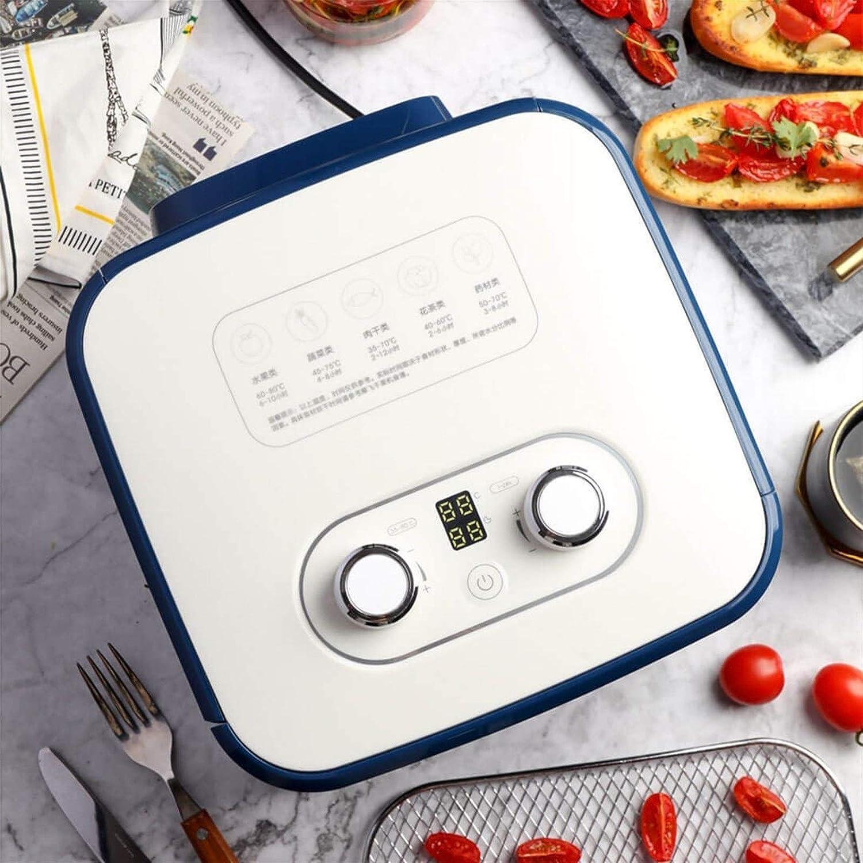 Eten Dehydrator, 4-laags Capacity, Fruit droger, Huishoudelijke Fruit Droger, Pet Snack Droger (roestvrij stalen rooster, Blauw, 220V) (Color : Blue) Blue
