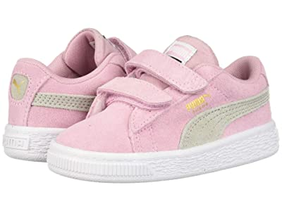 Puma Kids Suede Classic Velcro (Toddler) (Pale Pink/Gray Violet) Girls Shoes